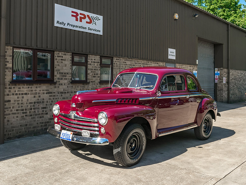 1948 Ford Coupe Long Distance Rally Car Outside RPS