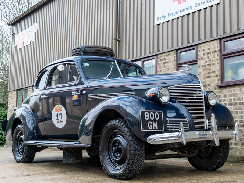 Long Distance Rally Car For Sale - 1939 Chevrolet Coupe Price £80,000