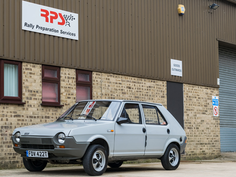 Rally Preparation Services Rally Car For Sale -1979 Fiat Ritmo Strada 1.1 5dr Outside RPS
