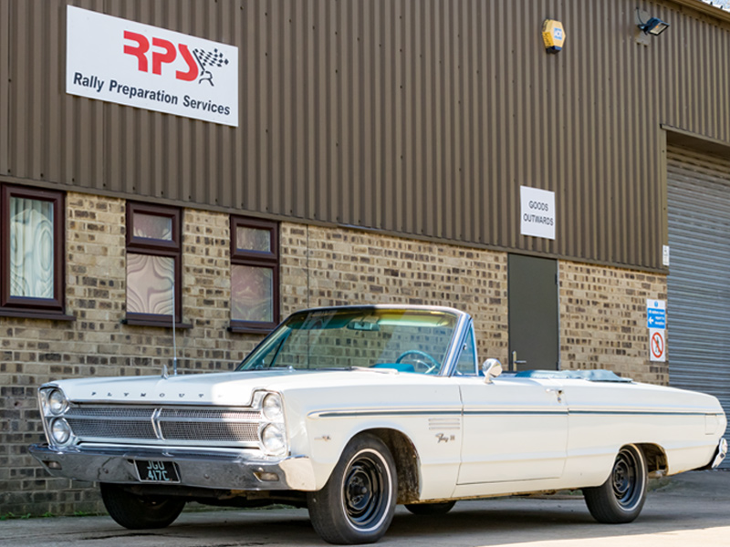 Rally Preparation Services Car For Sale 1965 Plymouth Fury 3 V8 Commando Convertible Outside RPS