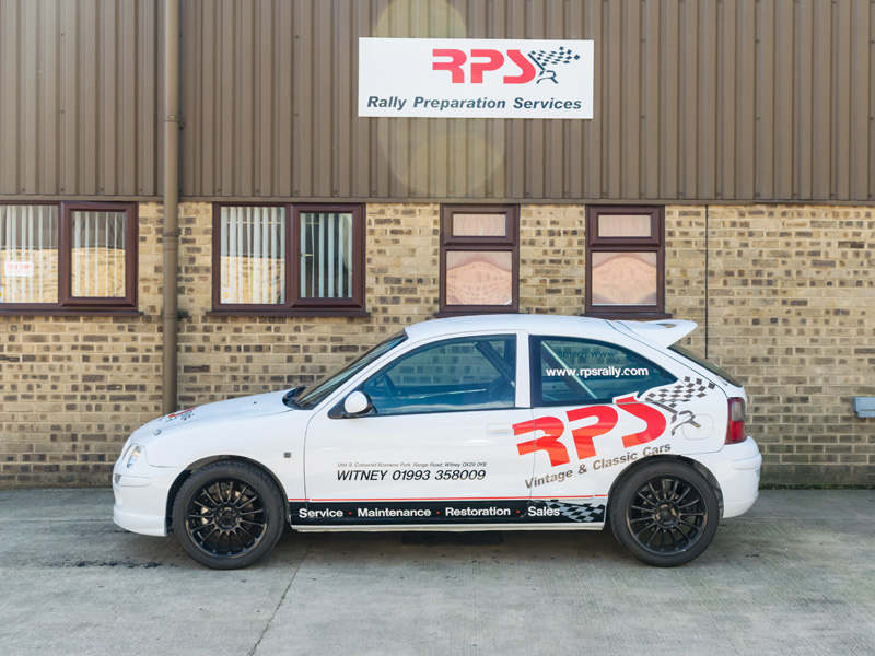 MG ZR Rally Car 1.8 VVC Left Side - RPS - Rally Preparation Services