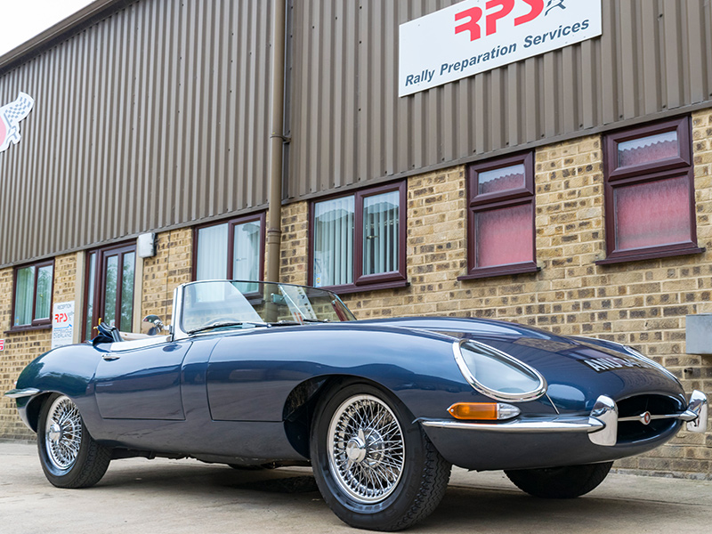 Rally Preparation Services Classic Car For Sale 1963 Jaguar E-Type Outside RPS 3Q